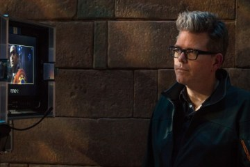 Director Christopher McQuarrie on the set of Mission: Impossible - Rogue Nation from Paramount Pictures and SKydance Productions.