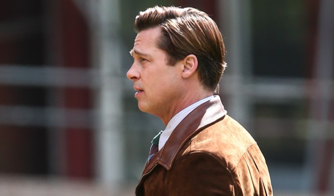 Brad Pitt and Marion Cotillard film a scene for the movie 'Five Seconds of Silence' in London