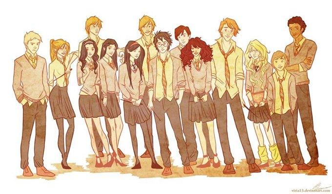 Hogwarts'tan Bir Toplu Fotoğraf