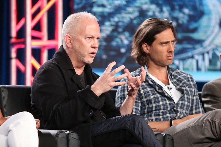 PASADENA, CA - JANUARY 04: Show creator/showrunner/writer/director/executive producer Ryan Murphy and show co-creator/writer/executive producer Brad Falchuk of the television show 9-1-1 speak onstage during the FOX portion of the 2018 Winter Television Critics Association Press Tour at The Langham Huntington, Pasadena on January 4, 2018 in Pasadena, California. (Photo by Frederick M. Brown/Getty Images)