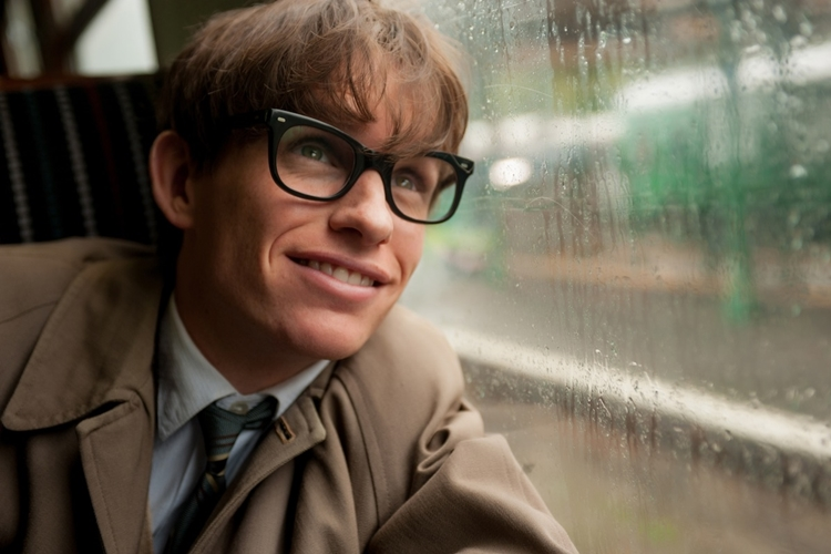 "This image released by Focus Features shows Eddie Redmayne as Stephen Hawking in a scene from ""The Theory of Everything."" (AP Photo/Focus Features, Liam Daniel)"
