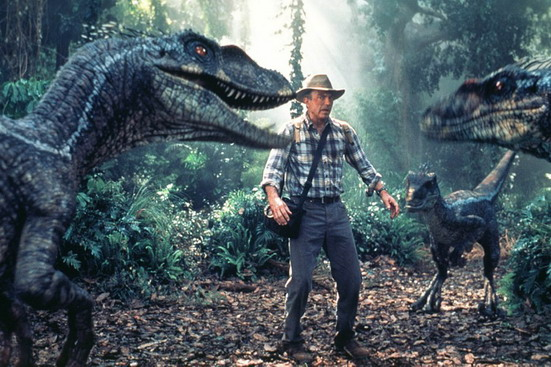 ACTOR SAM NEILL IN A SCENE FROM THE NEW FILM JURASSIC PARK III