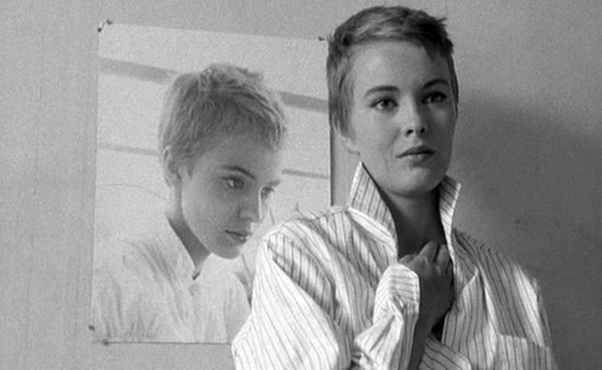 Jean Seberg in Jean-Luc Godard's BREATHLESS (1960). Courtesy Ria