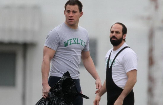 Exclusive - Channing Tatum and Mark Ruffalo On The Set Of 'Foxcatcher'