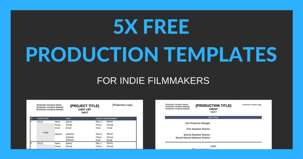 Get 5x Free Production Templates