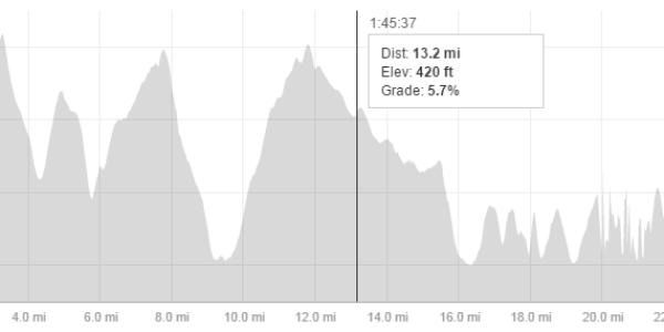 Beachy Head Marathon 2014 Elevation