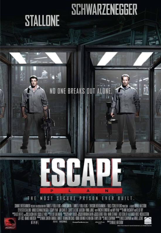 Nieuwe poster van Escape plan met Stallone & Schwarzenegger
