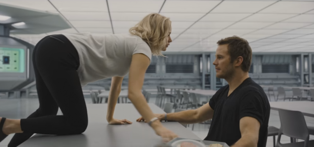 Passengers Clips Show Lawrence & Pratt In Danger