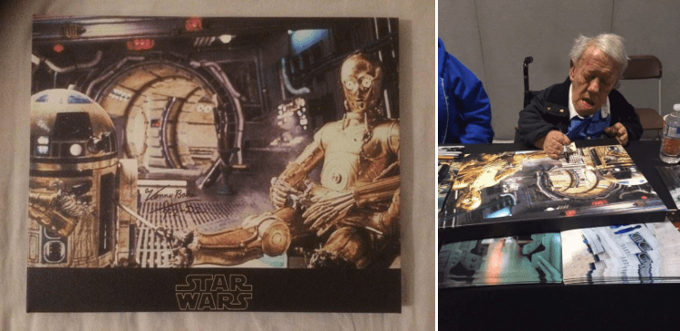 Win A Signed R2-D2 Canvas Print – Signed By The Late Kenny Baker *CLOSED*