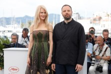 "Nicole Kidman and Yorgos Lanthimos at ""The Killing of a Sacred Deer"" photocall. (Source: AFP)"