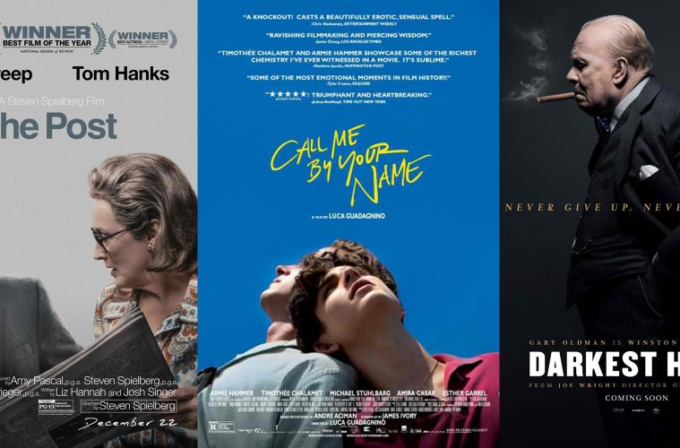 """The Post,"" ""Darkest Hour,"" ""Call Me By Your Name,"" to be Screened in the  Philippines"
