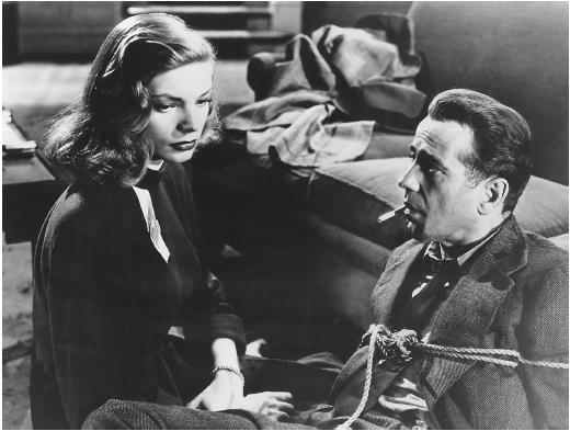 Lauren Bacall as as more sympathetic Vivian, with Humphrey Bogart