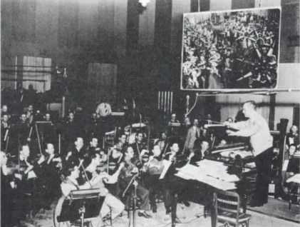 Herbert Stothart conducting THE WIZARD OF OZ