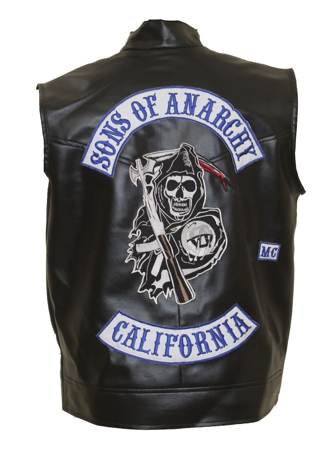 Sons Of Anarchy Jax Teller Leather Vest With Patches