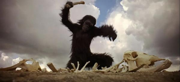 ape-man-with-bone-2001-Kubrick