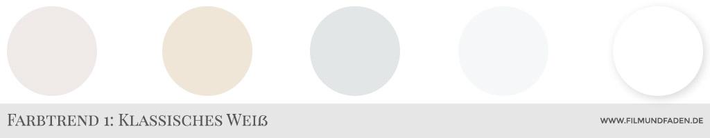 Farbtrend 1: Klassisches Weiß