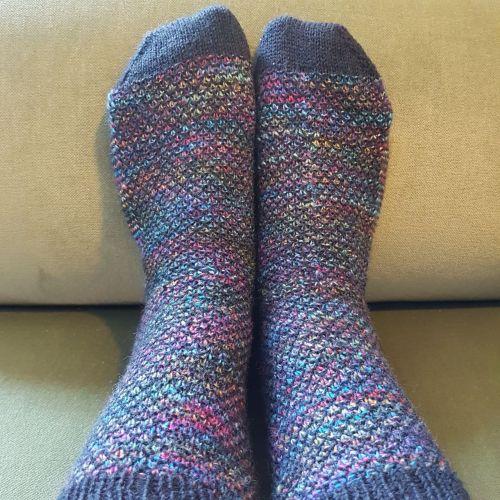 Bunte Socke