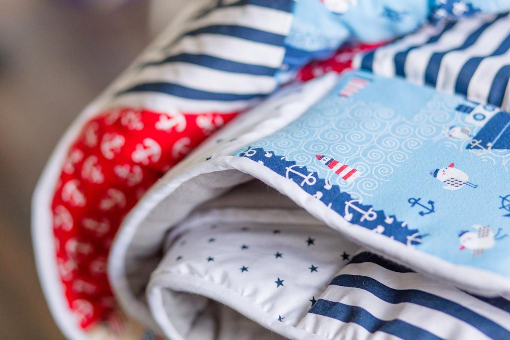 In 4 Schritten zur Babydecke: Binding