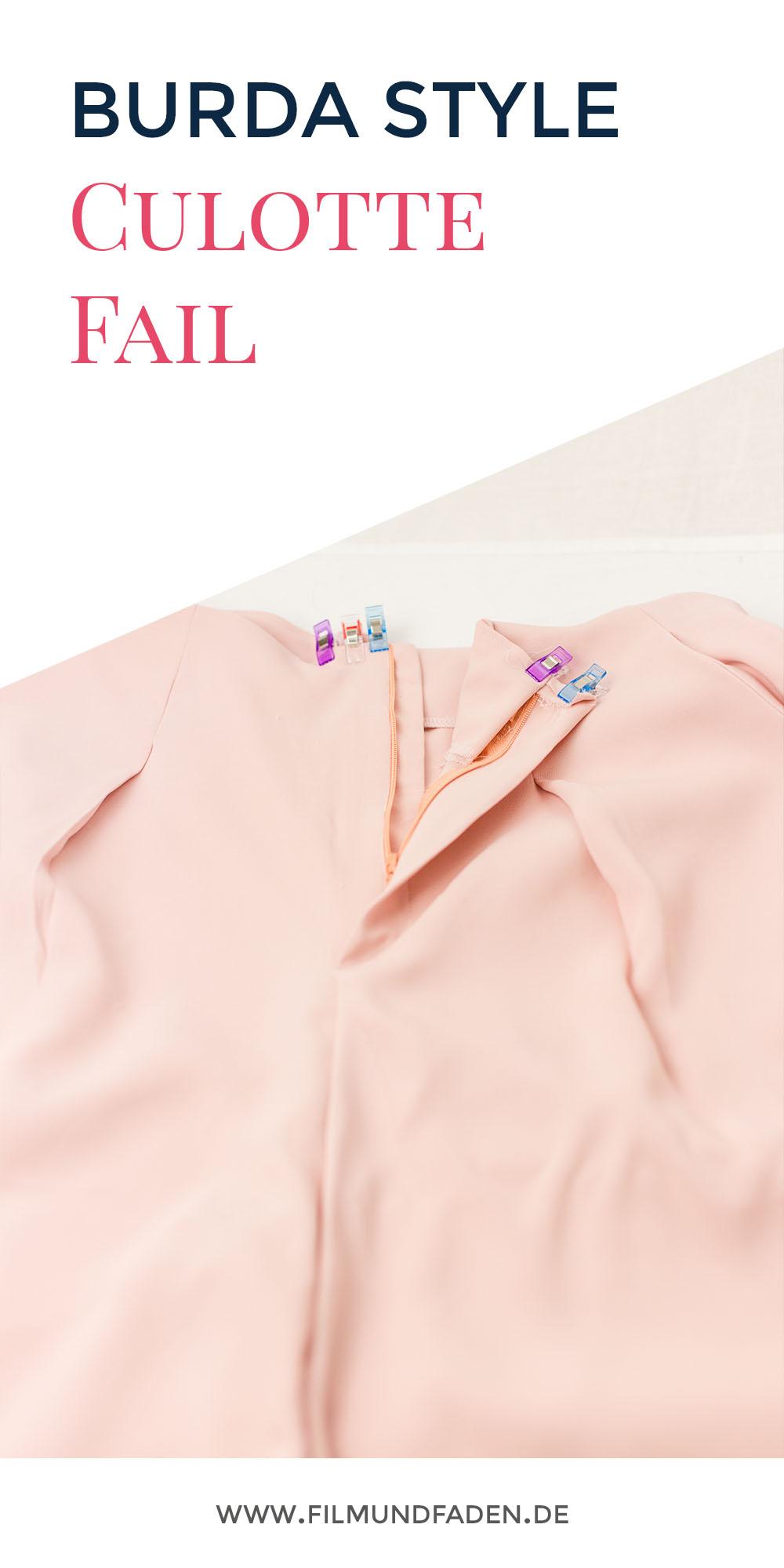 Burda Style Culotte - Es geht nicht immer alles glatt beim Nähen