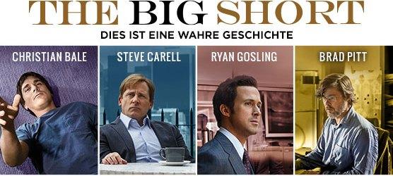 """""""The Big Short"""": Gewinnspiel mit 6 Fanpaketen zum Start des Finanzthrillers!"""