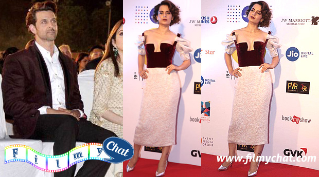 Kangana Ranaut refuse to talk about Hrithik Roshan on MAMI red carpet