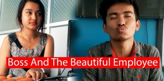 The Boss And The Beautiful 18 Years Old Employee Short Movie