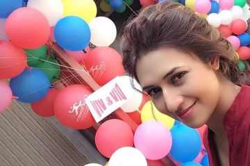 Divyanka Tripathi on the sets of Yeh Hai Mohabbatein