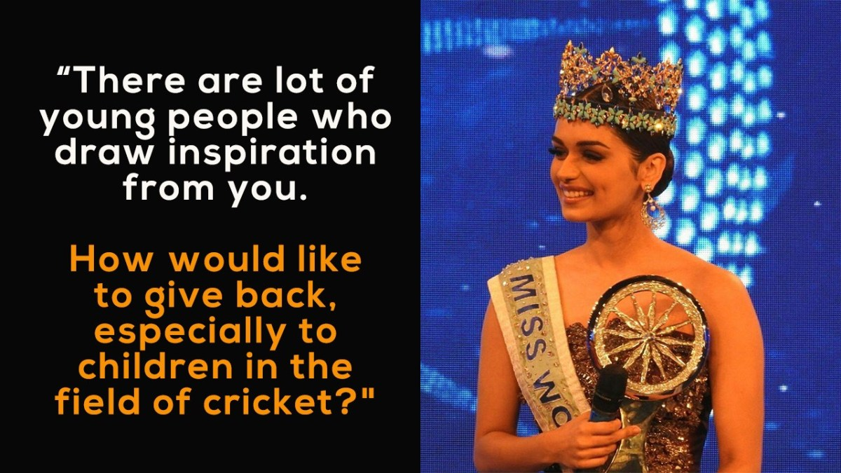 Virat Kohli Best Reply to Manushi Chhillar Question