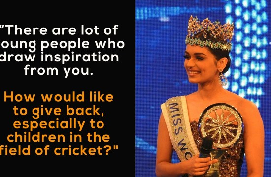 "virat kohli answer manushi Chhillar,virat kohli manushi chhillar,manushi Chhillar,manushi Chhillar asks virat kohli,virat kohli indian of the year,indian of the year,manushi Chhillar miss world 2017"",""title"":""Virat Kohli Answer To Manushi Chhillar Miss World 2017"
