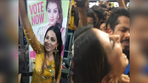 Bollywood Mirchii,hina khan,hina khan haters bigg boss,hina khan hated by fans,hina khan hair pulled by fan,hina khan misbehaved in public,bigg boss 11 promotion in vashi inorbit,hina khan fans bigg boss,hina khan fans angry,bigg boss 11 winner predictions,bigg boss 11 winner announcement,shilpa shinde,vikas gupta,luv tyagi
