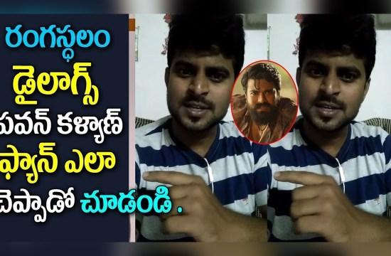 Pawan Kalyan Fan Reaction on Rangasthalam Movie Dialogues
