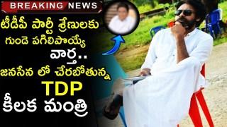 Big Shock to Chandrababu Naidu   TDP Cabinet Minister Joining in Pawan Kalyan Janasena Party