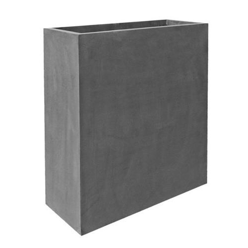 jardiniere fiberstone gris haute 100cm