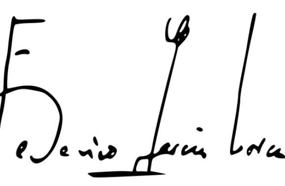 Firma de Federico García Lorca.
