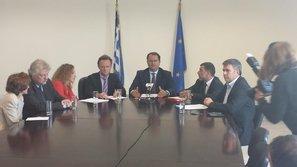 Συνέντευξη τύπου του Υφυπουργού Παιδείας Γ. Στύλιου και της ηγεσίας της ISF
