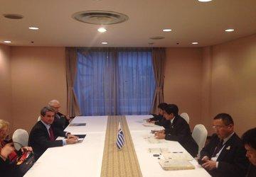 Συνάντηση Υ.ΠΑΙ.Θ με τον Υπουργό Παιδείας της Ιαπωνίας