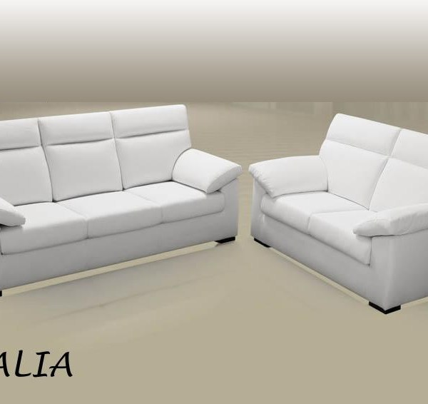 Divano in pelle Amalia 3 posti - Filo Rosso divani store