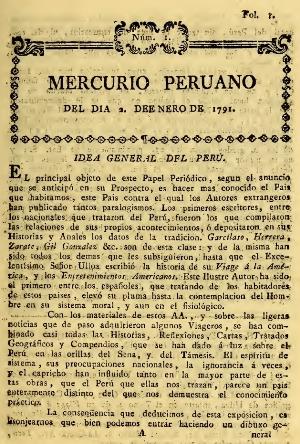Resultado de imagen para EL MERCURIO PERUANO