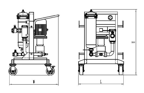 High Viscosity Filter Cart, Industrial Oil Filtration Systems