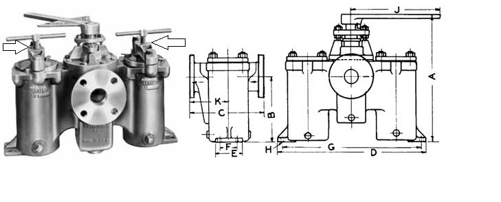 Duplex Filter, Duplex Basket Strainer Assembly
