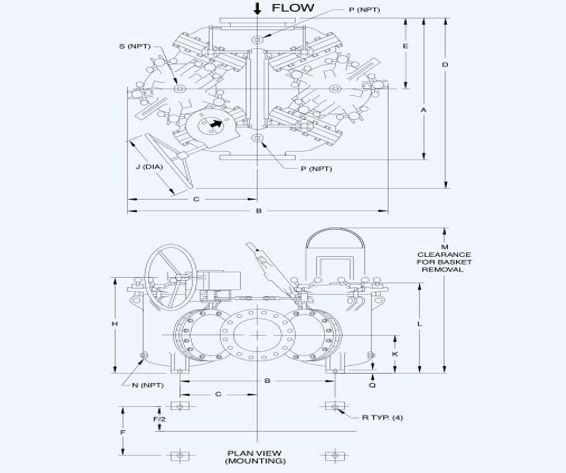 Duplex Filter, Duplex Basket Strainer Assembly