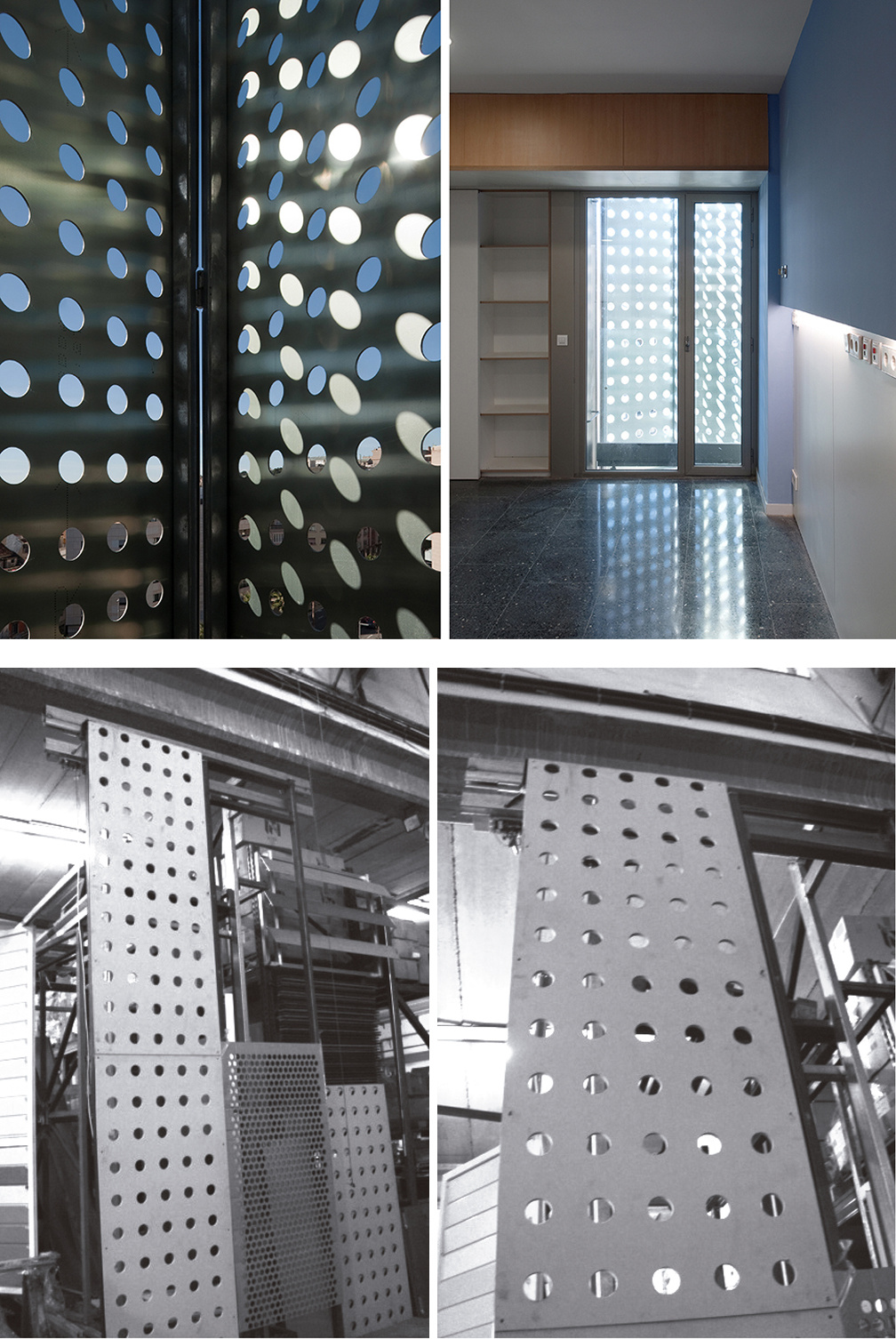 Faade of composite perforated shutters Bcn 151  filt3rs
