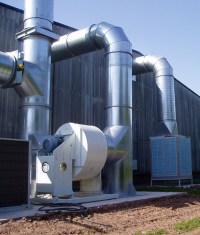 Industrial Ventilation Evaporative Cooling Systems