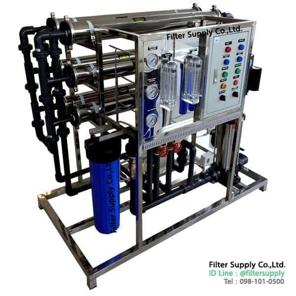 เครื่องผลิตน้ำอาร์โอ (RO) อุตสาหกรรม กำลังการผลิต 36Q ต่อวัน (1.5Q/H)