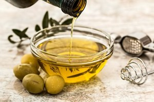 olive-oil, a jar and bottle