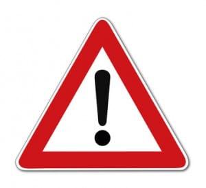 Gefahrstelle, Verkehrszeichen