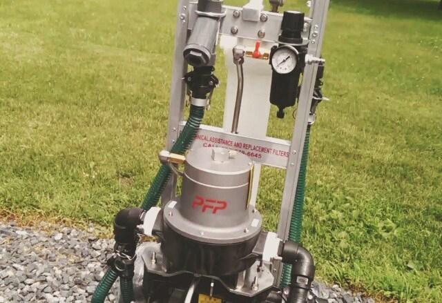 Carro de filtración para proceso de limpiar tubería