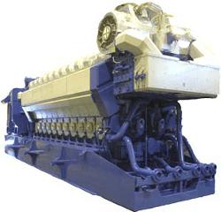 Motor Wartsila de gas natural en central eléctrica