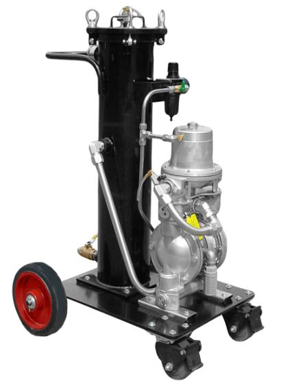 PFCB: Carrito de filtración, alimentación neumática, con bolsa filtrante