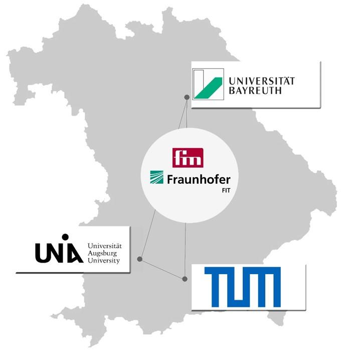 FIM in Augsburg, Bayreuth & Kooperation mit der TUM